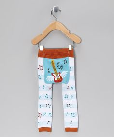 Take a look at this Blue Flying Guitar Leggings - Infant by Doodle Pants on #zulily today!