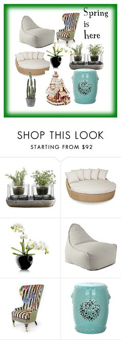 """Spring is here"" by hvaradhan ❤ liked on Polyvore featuring interior, interiors, interior design, home, home decor, interior decorating, Nude, Sunset West, Eva Solo and Serena & Lily"