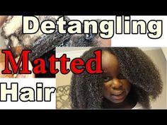 How to Detangle Matted Natural Hair (Video) - Natural Hair Kids