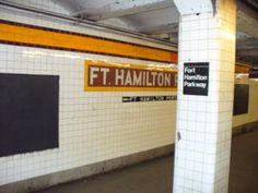 Fort Hamilton Parkway is a local station on the IND Culver Line of the New York City Subway in Brooklyn. It is served by the F and G trains at all times. New York Subway, Nyc Subway, Go Transit, The Ind, S Bahn, Staten Island, Brooklyn Bridge, Hamilton, Line