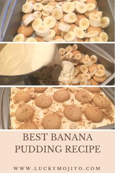 The best banana pudding recipe there is. It's so easy and great to take to potlucks parties and festivities. The post SUPER FLUFFY & Easy Banana Pudding Recipe appeared first on Dessert Factory. Banana Pudding From Scratch, No Bake Banana Pudding, Banana Pudding Desserts, Easy Pudding Recipes, Homemade Banana Pudding, Köstliche Desserts, Healthy Banana Pudding, Patti Labelle Banana Pudding Recipe, Sweets