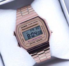 f400cf267e39 Reloj Rosa A168 Retro Cobre Vintage Rose Gold Envio Gratis