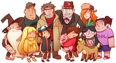 Gravity Falls by Elentori, love this artist Mystery Of Gravity Falls, Gravity Falls Au, Dipper Y Mabel, Mabel Pines, Dipper Pines, Bill Cipher, Fall Drawings, Desenhos Gravity Falls, Grabity Falls