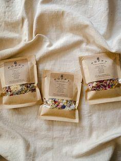 Tea Packaging, Packaging Design, Packaging Ideas, Smelling Flowers, Bath Tea, Bath Salts, Rose Buds, Herbalism, Essential Oils