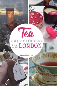 From a fun twist on traditional English tea, to places you didn't think you could go, here some unusual places to have tea in London. List Of Teas, Afternoon Tea London, Small Glass Bottles, Masala Chai, Donut Shop, Food Tasting, Lunches And Dinners, High Tea, Traveling By Yourself