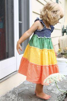 rainbow dress tutorial, that's adorable.