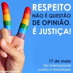 Hoje é comemorado o Dia Internacional de Combate a Homofobia | DATAB - Diretório Acadêmico Tarcísio Burity