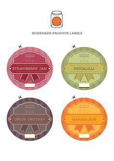 printable jams and chutneys labels