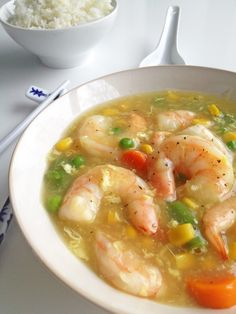 This shrimp in lobster sauce recipe has jumbo shrimp simmering in a egg gravy lightly flavored with soy sauce, sugar and sesame oil. Shrimp Dishes, Fish Dishes, Shrimp Recipes, Sauce Recipes, Fish Recipes, Asian Recipes, Cooking Recipes, Chinese Recipes, Lobster Recipes