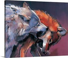 ArtWall Mark Adlington 'Two Wolves' Gallery Wrapped Canvas Artwork, 36 by -- Visit the image link more details. (This is an affiliate link) Canvas Artwork, Oil On Canvas, Canvas Prints, Canvas Size, Big Canvas, Canvas Paintings, Photo Canvas, Art School London, Two Wolves