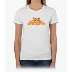 Candy Corn Cat Womens T-Shirt