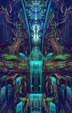 Manafold is a visionary artist who creates portals into divine psychedelic realms. Fantasy Kunst, Fantasy Art, Art Fractal, Art Visionnaire, Arte Alien, Mandala, Psychadelic Art, Psy Art, Trippy Wallpaper