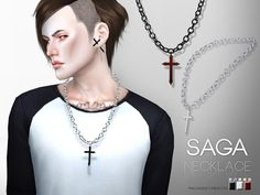 Saga Necklace by Pralinesims at TSR via Sims 4 Updates