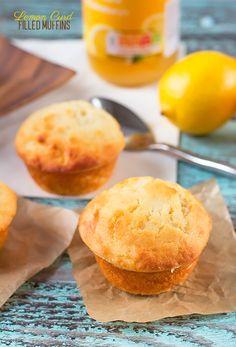 Lemon Curd Filled Muffins   Annie's Noms