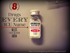 8 Drugs Every ICU Nurse Needs to Know. What drug to give during which arrhythmia. Very important for new ICU nurses to know. Nursing School Tips, Nursing Career, Nursing Notes, Nursing Tips, Nursing Programs, Nursing Degree, Nursing Schools, Rn Programs, Nursing Resume