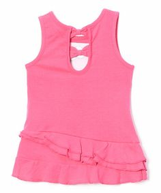 Loving this Fuchsia 'Hello Kitty' Tank & Star Shorts - Toddler & Girls on #zulily! #zulilyfinds