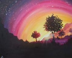Brilliant Sunset - Paint Nite Painting