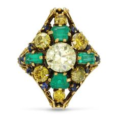 Antique Diamond And Emerald Ring Circa 1890 By Louis Comfort Tiffany Tiffany Co Rings, Tiffany Art, Tiffany Jewelry, Tiffany And Co, Louis Comfort Tiffany, Antique Diamond Rings, Emerald Gemstone, Emerald Rings, Ruby Pendant