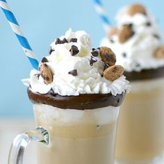 Blogger Brooke McLay from Cheeky Kitchen shares a favorite recipe. Melted ice cream transforms this quick, creamy drink into hot cocoa bliss. Makes having a snow day extra special!