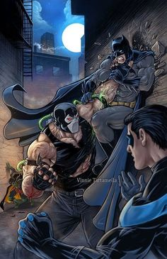 Bane Vs. Batman and Nightwing