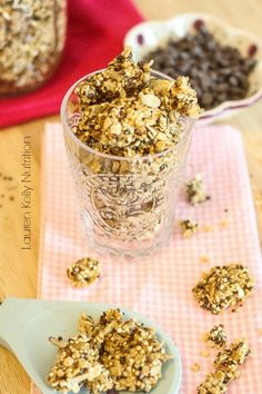 This Peanut Butter Chocolate Chip Granola is so healthy and simple to make! #glutenfree #quinoa