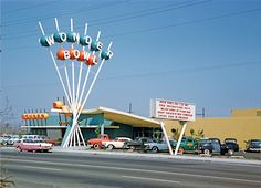 """Wonder Bowl, Anaheim, California,1958, Kodachrome image from the Charles Phoenix """"Slibrary"""" Collection."""