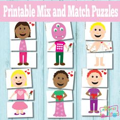 Printable Valentines Day Puzzles - Busy Bags http://www.itsybitsyfun.com/printable-valentines-day-puzzles.html
