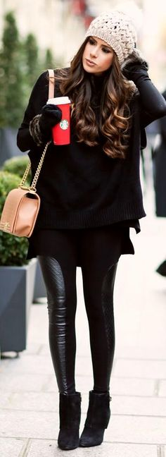 Chic Winter Outfit On The Street 2017 - Miladies.net