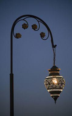 Marrakesh Street Lamp by Robs Photo's Lampe Laser, Lamp Light, Light Up, Lantern Lamp, Luminaire Design, Street Lamp, Moroccan Style, Chandeliers, Belle Photo