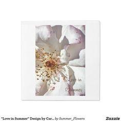 """""""Love in Summer"""" Design by Carole Tomlinson Standard Luncheon Napkin"""