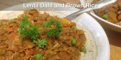 Dhal is technically speaking just a preparation of lentils or other pulses. This particular version is one that I came up with many years ago, and it My Recipes, Whole Food Recipes, Cooking Recipes, Healthy Recipes, Lentil Dahl, Dried Lentils, Rice Ingredients, Veggie Stock, Dhal
