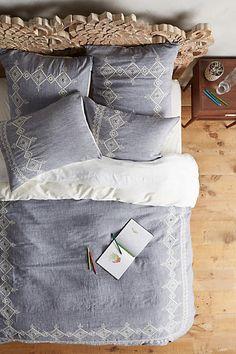 Anthropologie Embroidered Argenta Duvet  #anthropologie #anthrofavs #furniture ad #anthropology