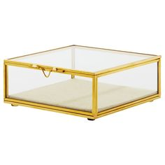 Gold Glass Square Display Box – Medium by Indigo | Home Accents Gifts | chapters.indigo.ca