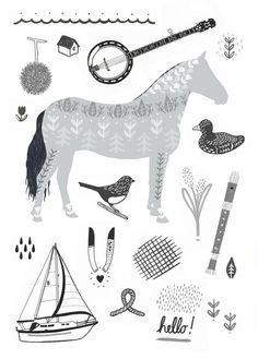 Illustration by Sarah Abbott (via Miss Moss)