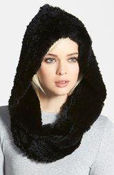 Jocelyn Genuine Rabbit Fur  - hood