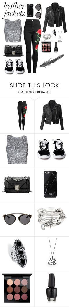 """Girls night out 🔹"" by silviamachado20 ❤ liked on Polyvore featuring LE3NO, Christian Dior, Alex and Ani, Palm Beach Jewelry and MAC Cosmetics"