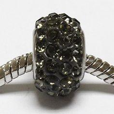 beads con strass di color grigio
