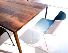 #sedia #aiku di #jeanmariemassaud #tavolo #tense in #legno #massiccio di #mdfitalia #novita #salonedelmobile prossimamente nel nostro #showroom #selezionearredamenti #mdfitaliaverona #minimal #design by selezionearredamenti