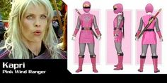 Kapri The Pink Ninja Storm Ranger Power Rangers Ninja Storm, Pink, Pink Hair, Roses