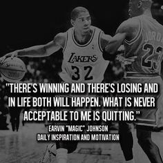 Awesome quote by Magic Johnson.  #Lakers #magicjohnson