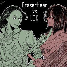 Boku no Hero Academia x Marvel || Cross-Over [ Aizawa Shouta, Loki Laufeyson. ]