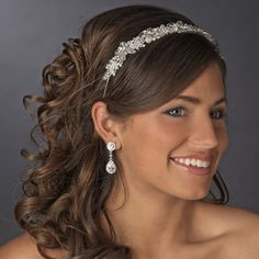 Lots of sparkle for your Winter Wedding with this Crystal Rhapsody Wedding Headband Tiara hp603 - Affordable Elegance Bridal -