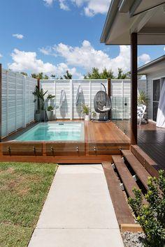 Backyard Pool Designs, Small Backyard Pools, Swimming Pools Backyard, Pool Landscaping, Backyard Ideas, Outdoor Pool Areas, Small Yard Pools, Small Swimming Pools, Small Backyards