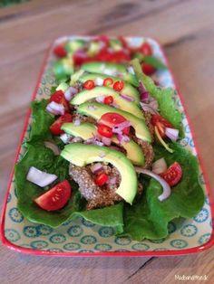 Vegetar-tacos med nødde-svampe-fars