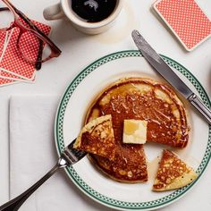 Diner-Style Buttermilk Pancakes - Crack open a can of seltzer or club soda! What a good idea.