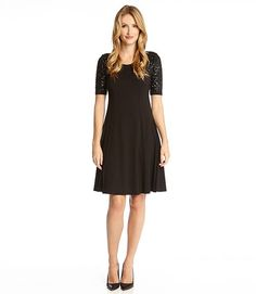 Karen Kane Sequin Sleeve Dress