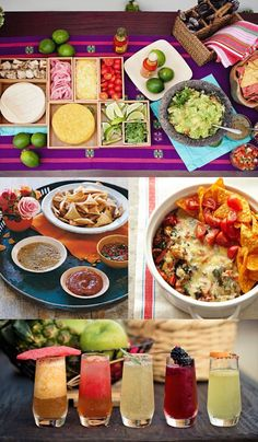 Beautifully Seaside / formerly Chic Coastal Living: 10 BEST:: Cinco de Mayo Inspiration Mexican Buffet, Mexican Menu, Mexican Party, Mexican Food Recipes, Taco Party, Fiesta Party, Creative Food, I Love Food, Appetizers