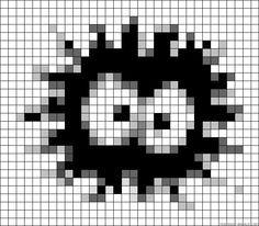 Soot ball Totoro perler bead pattern