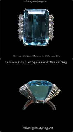 An enormous and gorgeous carat Emerald cut Aquamarine and diamond ring Popular Engagement Rings, Designer Engagement Rings, High Jewelry, Luxury Jewelry, Aquamarine Jewelry, Gemstone Jewelry, Do It Yourself Jewelry, Beautiful Diamond Rings, Diamond Are A Girls Best Friend