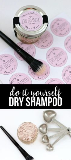 DIY Dry Shampoo - make your own dry shampoo with just 2 ingredients! via www.thirtyhandmadedays.com